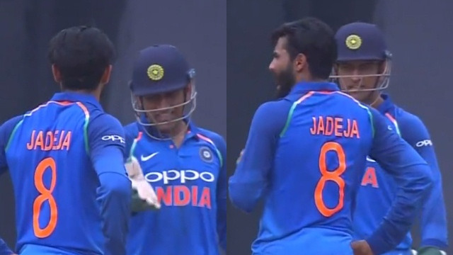 IND v WI 2018: WATCH - Ravindra Jadeja scolded by MS Dhoni as he opted for a review