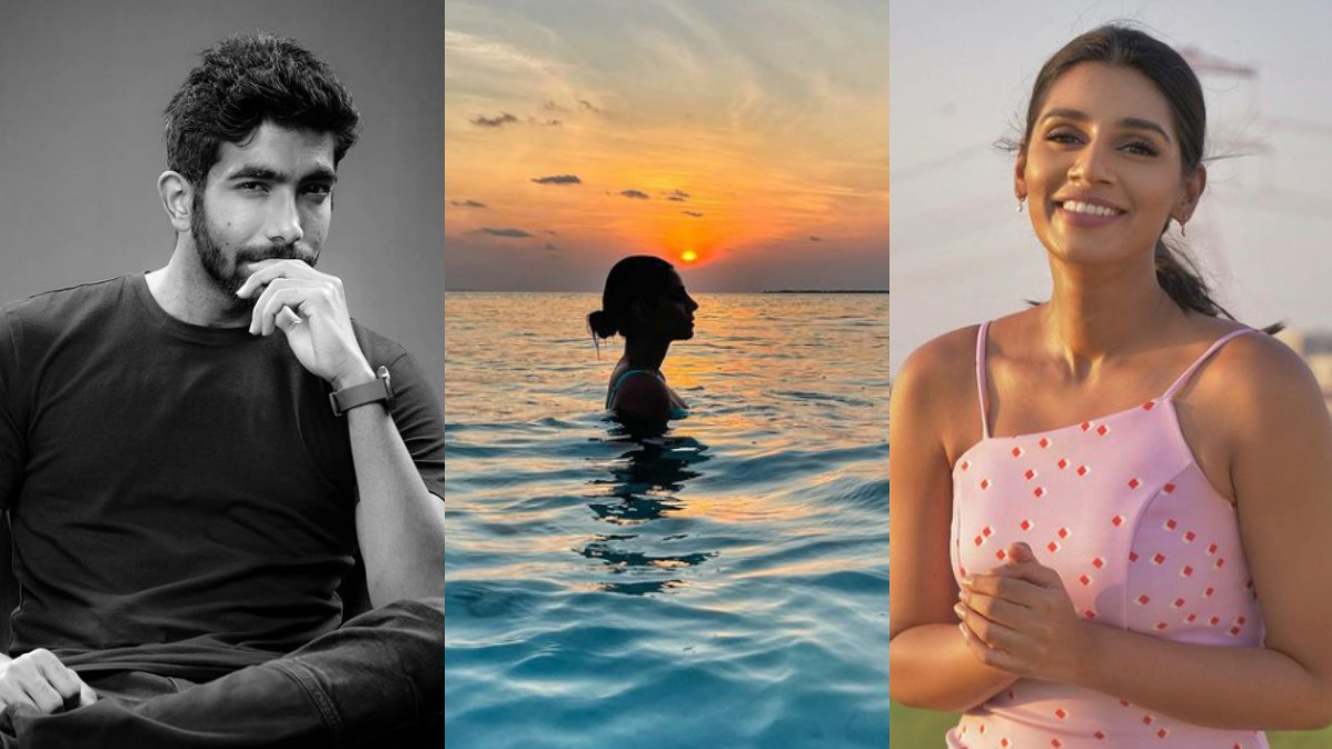 Jasprit Bumrah and Sanjana Ganesan's romantic conversation over sunset picture goes viral