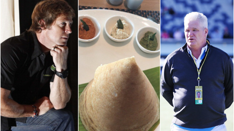 Dean Jones and Jonty Rhodes have banter over South Indian food