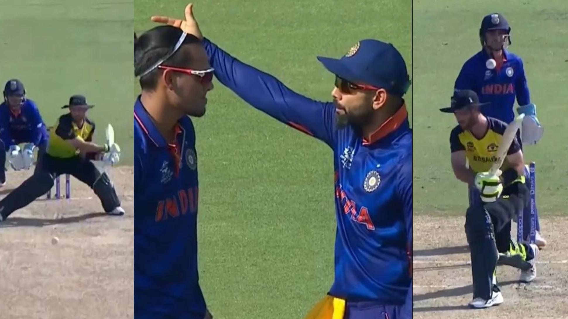 T20 World Cup 2021: WATCH- Virat Kohli's instructions help Rahul Chahar one-up Glenn Maxwell