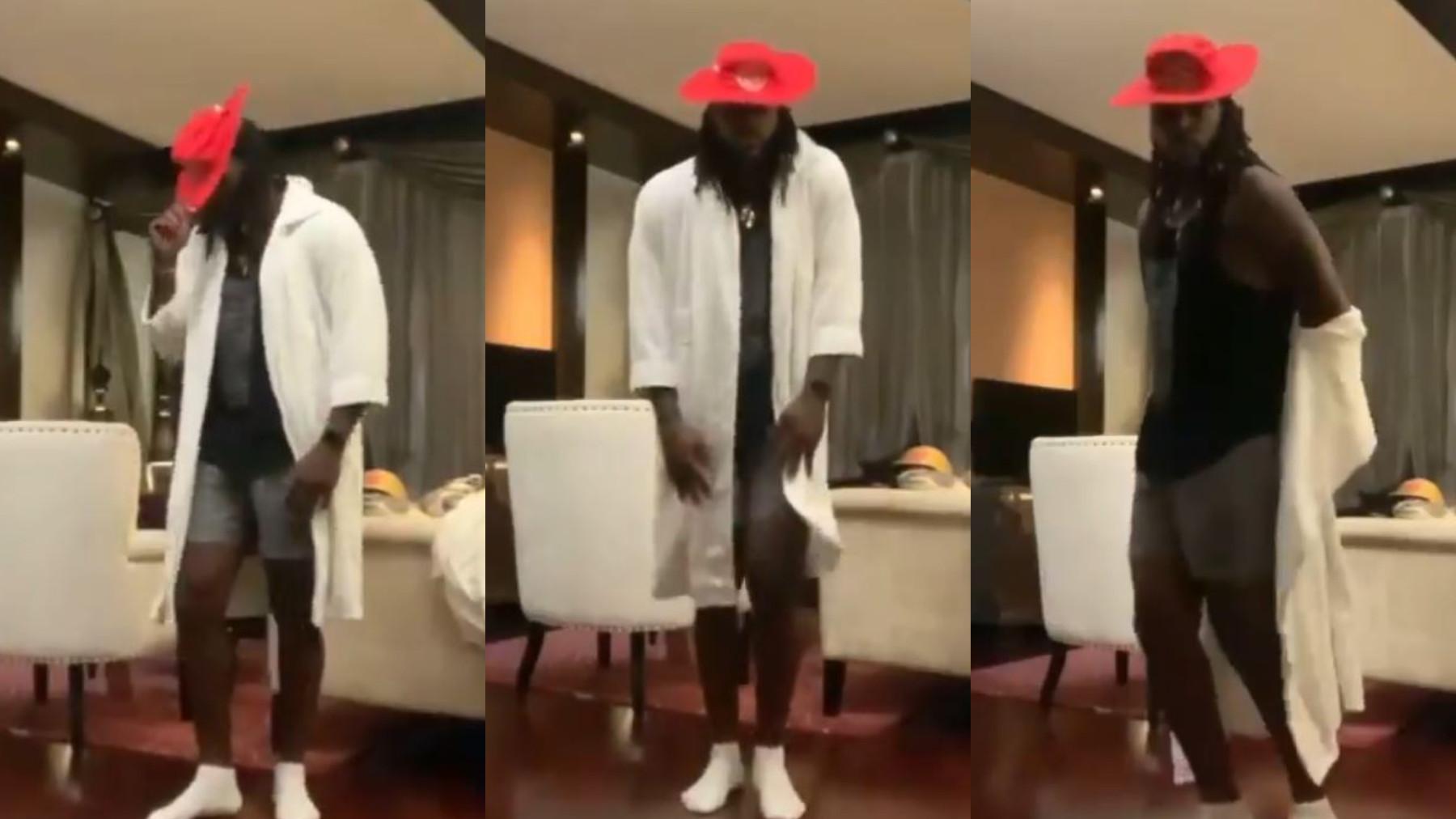 IPL 2021: WATCH- PBKS' Chris Gayle celebrates the end of his quarantine with a 'moonwalk' dance