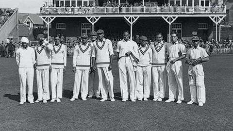 India's first Test team preparing to play the first ever Test in 1932 at Lord's