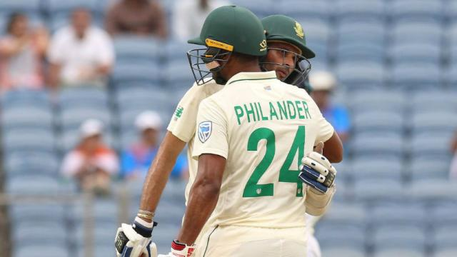 Keshav Maharaj and Vernon Philander frustrated the Indian bowlers | AFP