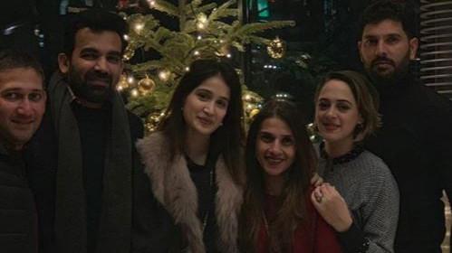सागरिका घाटगे, ज़हीर खान, हेज़ल कीच और युवराज सिंह ने ऑस्ट्रिया में मनाया क्रिसमस का जश्न
