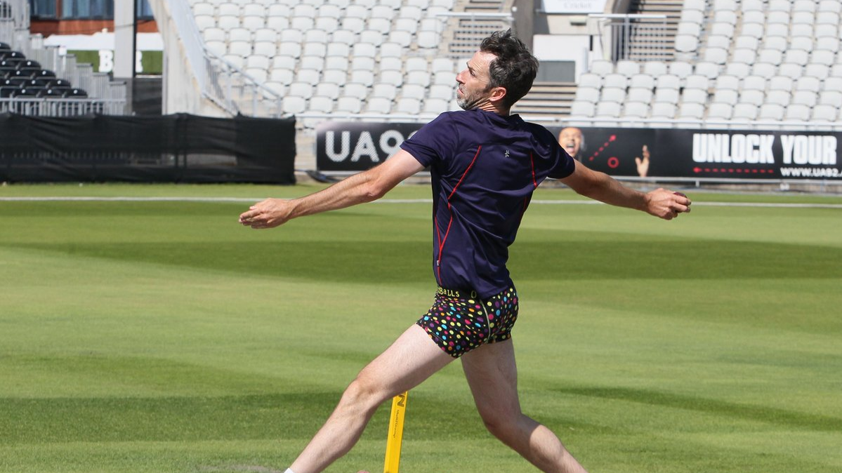 England cricketer Graham Onions bowled in underpants after losing a bet