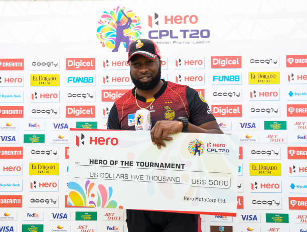 Kieron Pollard was named Man of the Tournament in CPL T20 2020. (Photo - Getty Images)