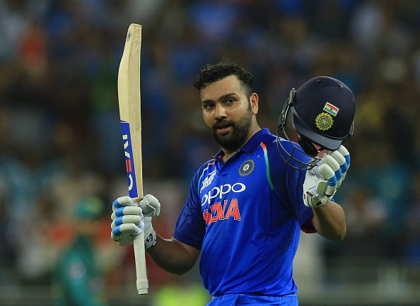 Rohit Sharma celebrates his century against Pakistan in Asia Cup 2018 | Getty