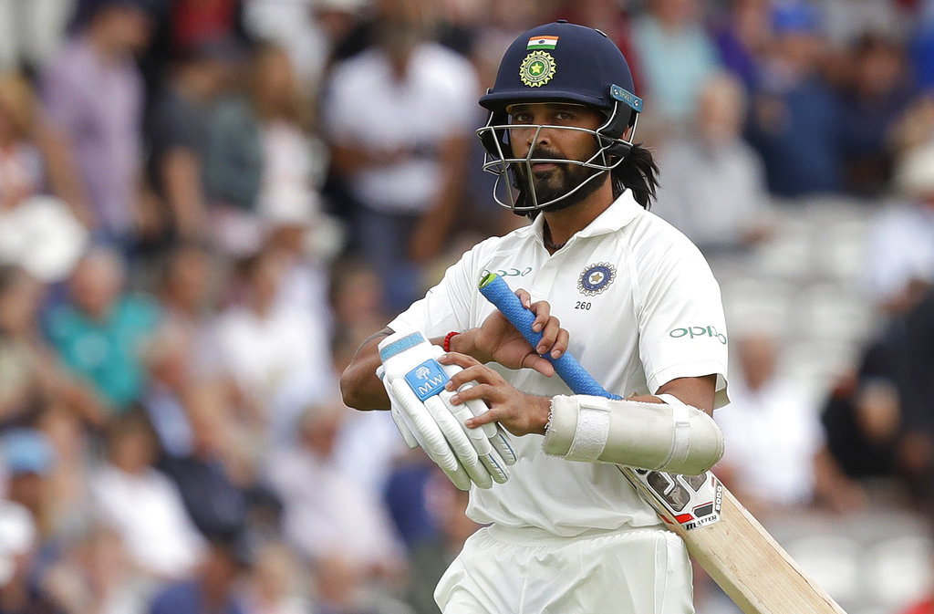 Murali Vijay has been dropped from India's Test squad at the age of 34. (Getty)