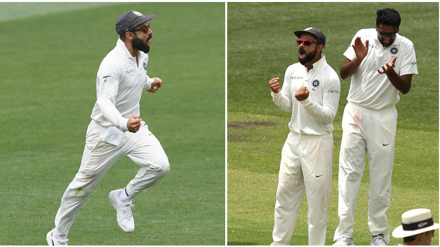 AUS v IND 2018-19: WATCH- Skipper Virat Kohli's fervent celebration after India opens their account