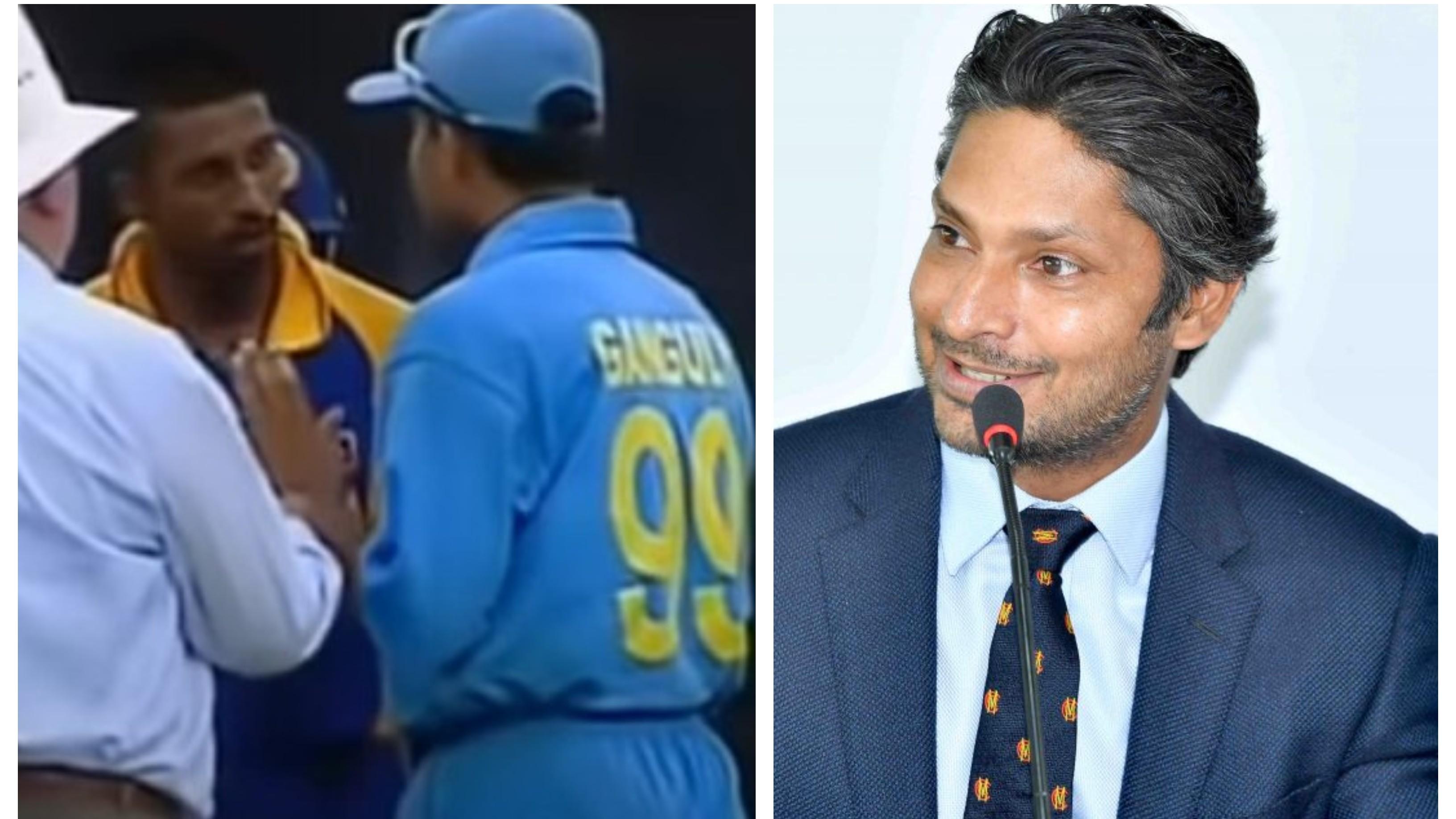 Sangakkara recalls instance when Ganguly entered Sri Lankan dressing room after argument with Arnold