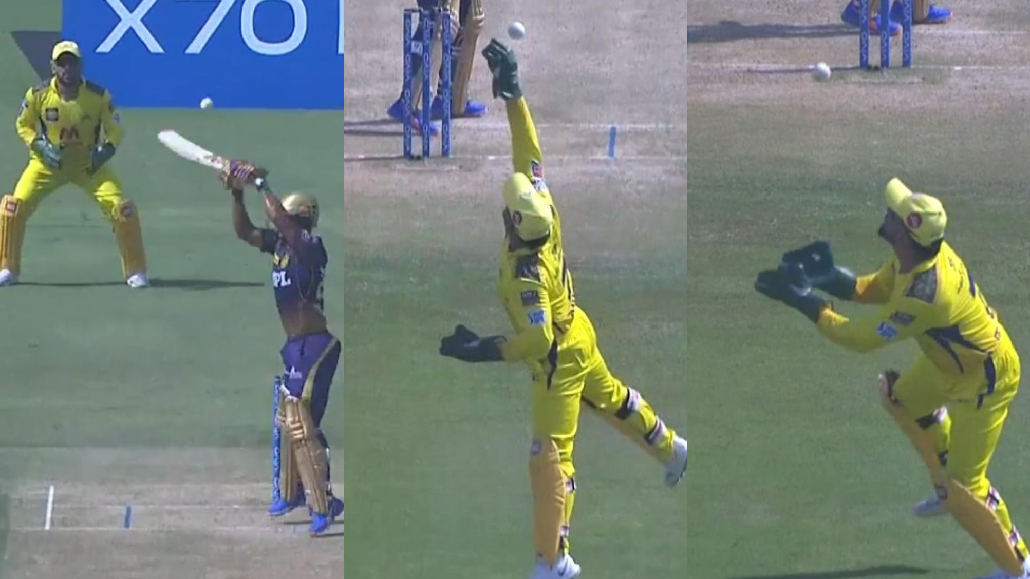 IPL 2021: WATCH- MS Dhoni takes a brilliant catch of Tripathi; no-ball leads to dismissal being reversed