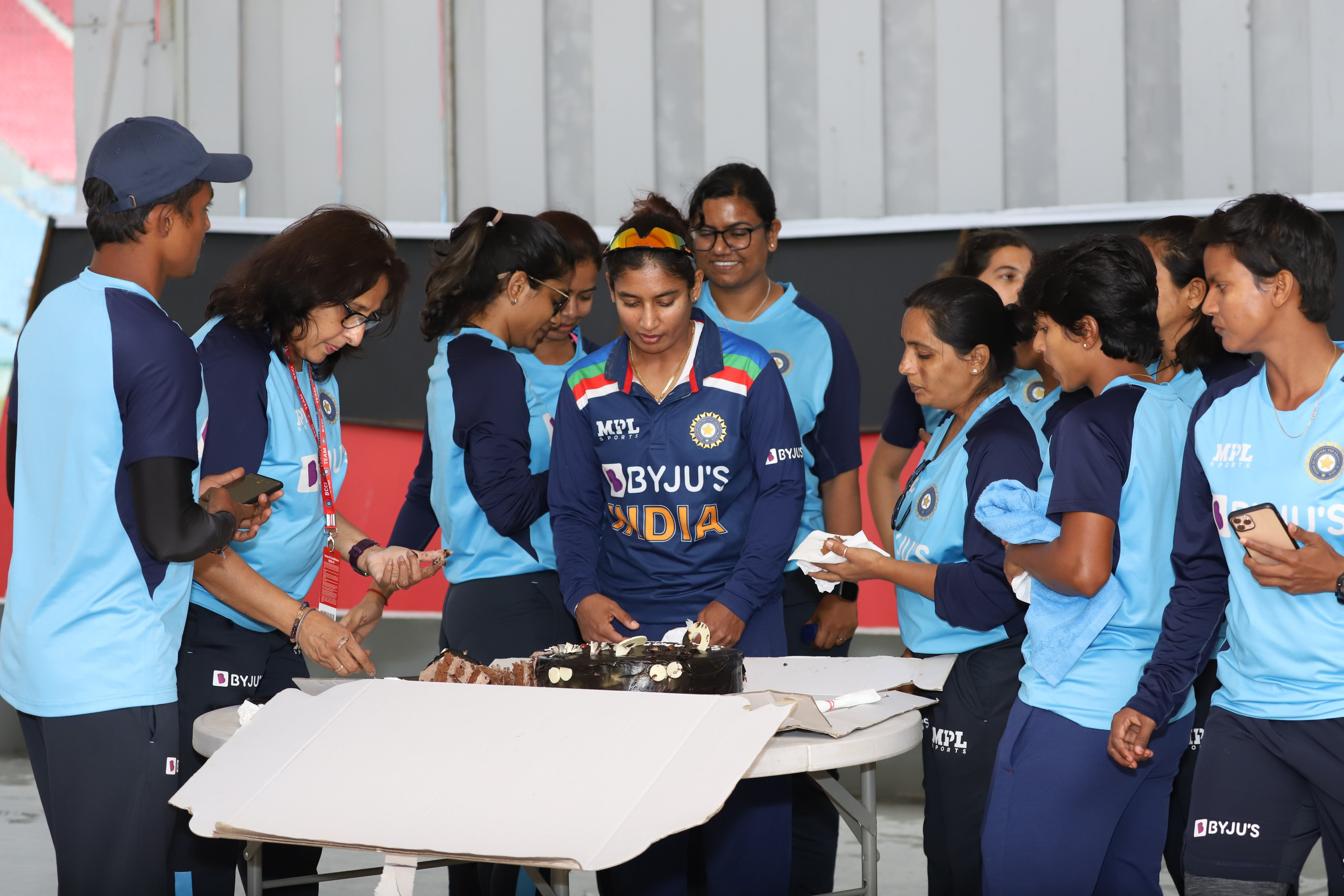 Mithali Raj celebrates her latest milestone with her teammates | BCCI Women Twitter