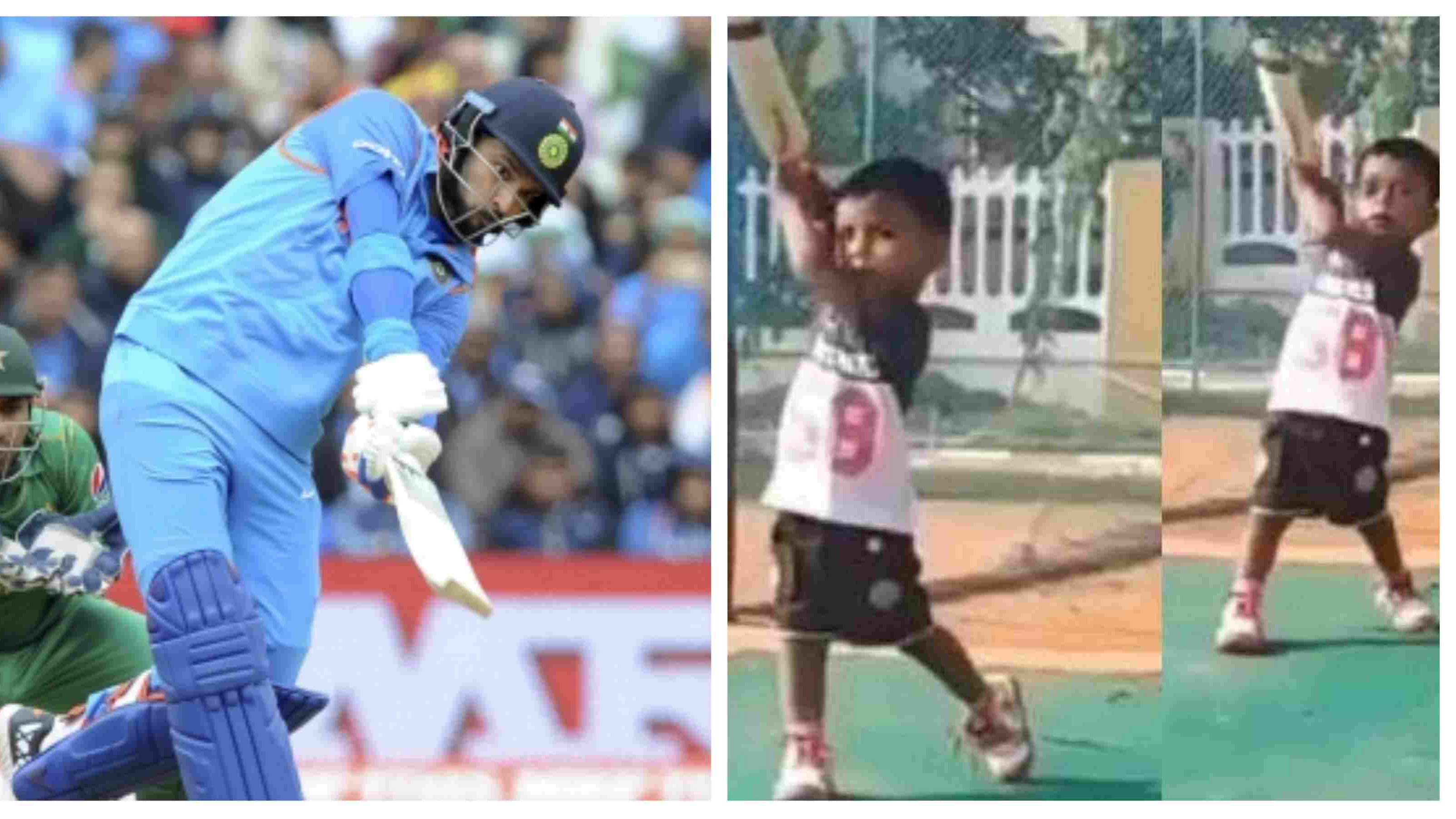 WATCH: Two-year old kid executes Yuvraj Singh-alike strokes