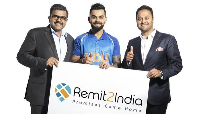 Virat Kohli appointed as brand ambassador of Remit2India