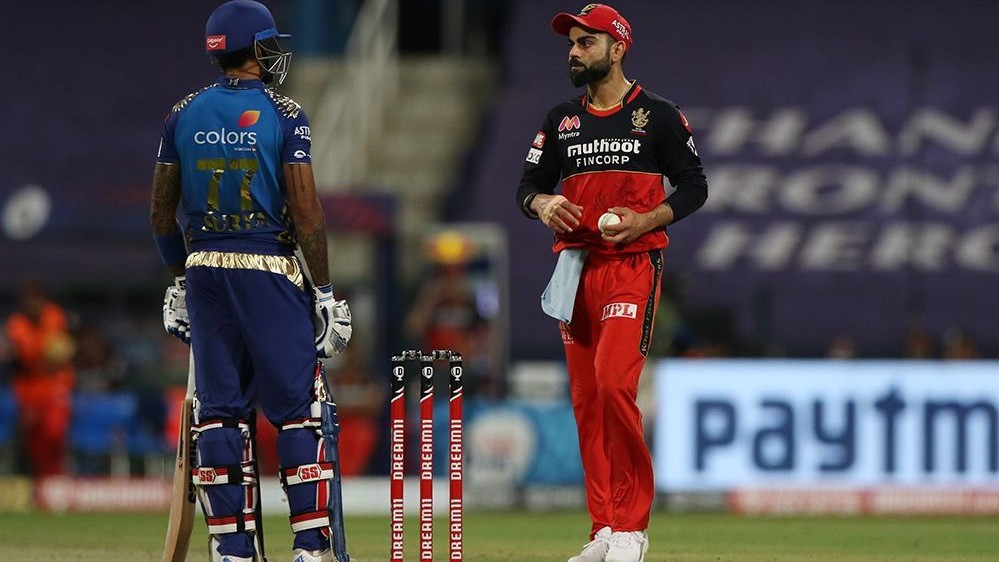 IPL 2020: WATCH – Suryakumar Yadav ignores as RCB skipper Virat Kohli provokes him by sledging