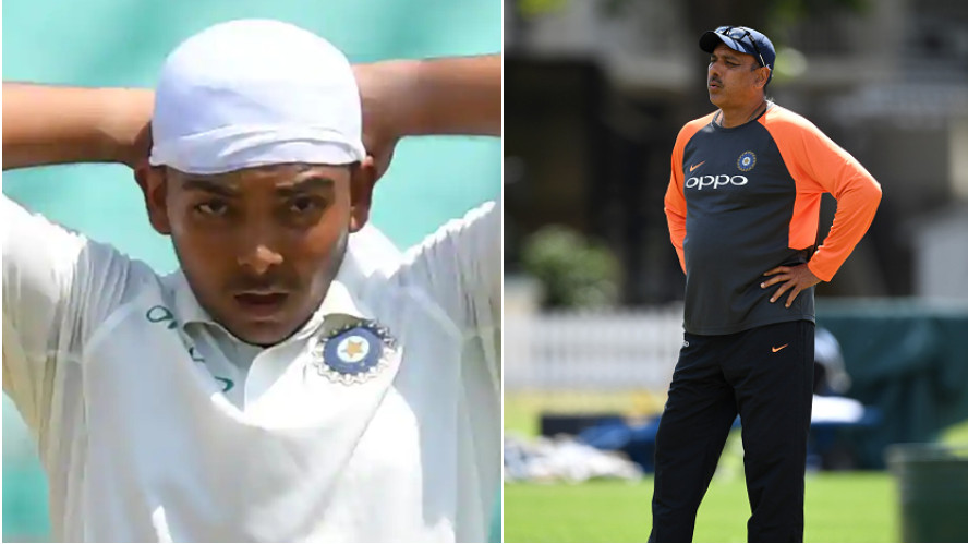 IND v WI 2018: Ravi Shastri calls Prithvi Shaw a mixture of Sachin Tendulkar, Brian Lara and Virender Sehwag