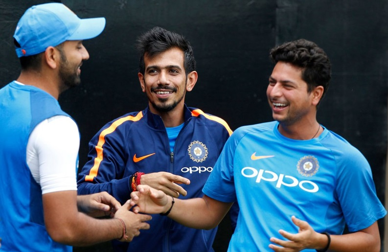 Yuzvendra Chahal with Rohit Sharma and Kuldeep Yadav | GETTY