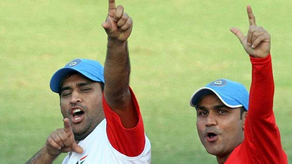 MS Dhoni and Virender Sehwag | GETTY