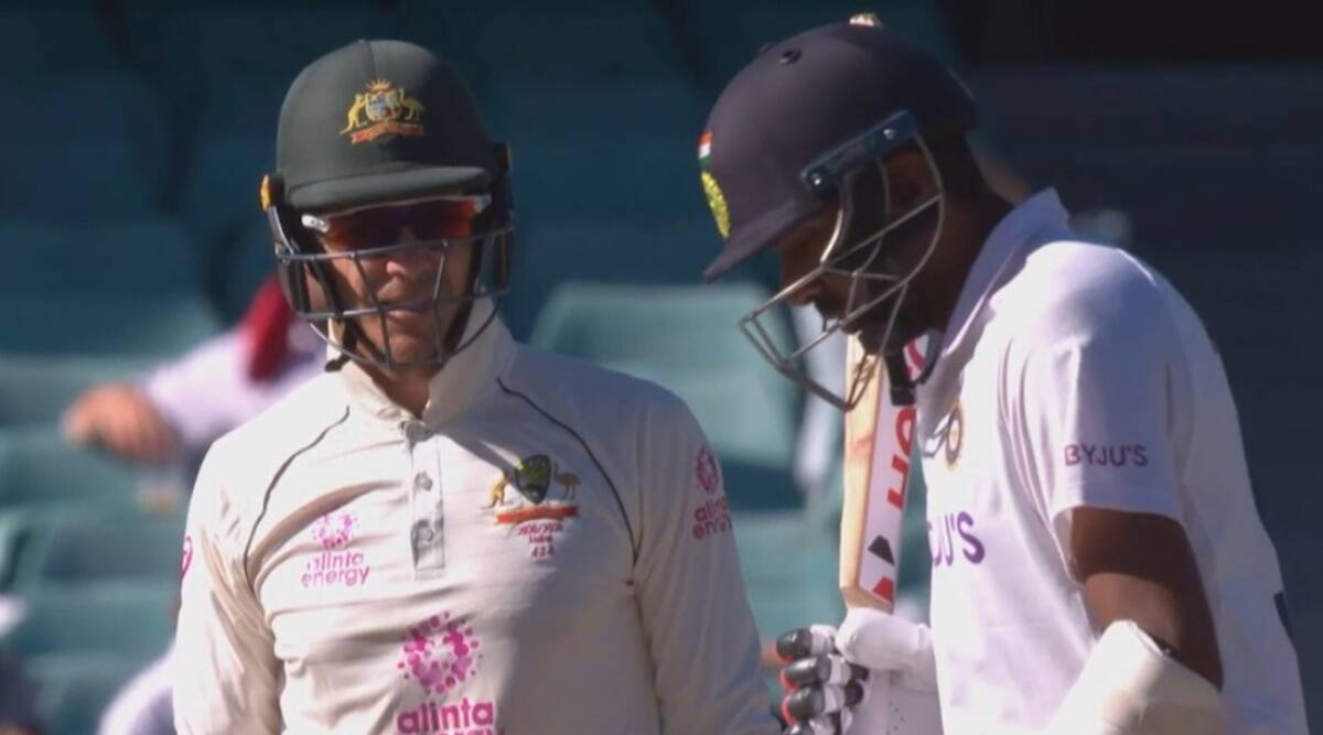 Paine indulged in a verbal duel with Ashwin on the final day of Sydney Test | Screengrab