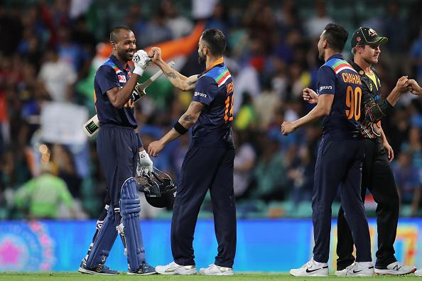 Virat Kohli and Hardik Pandya celebrates 2nd T20I win | Getty Images