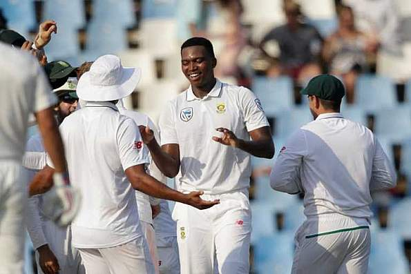 Lungi Ngidi had taken 6 wickets in South Africa's win at Centurion | AFP