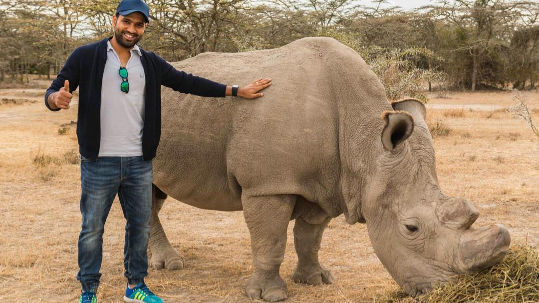 Rohit Sharma shares an emotional message concerning the extinction of African Rhino