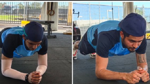 AUS v IND 2020-21: Pandey, Mayank, and Gill take the plank challenge; BCCI shares pictures