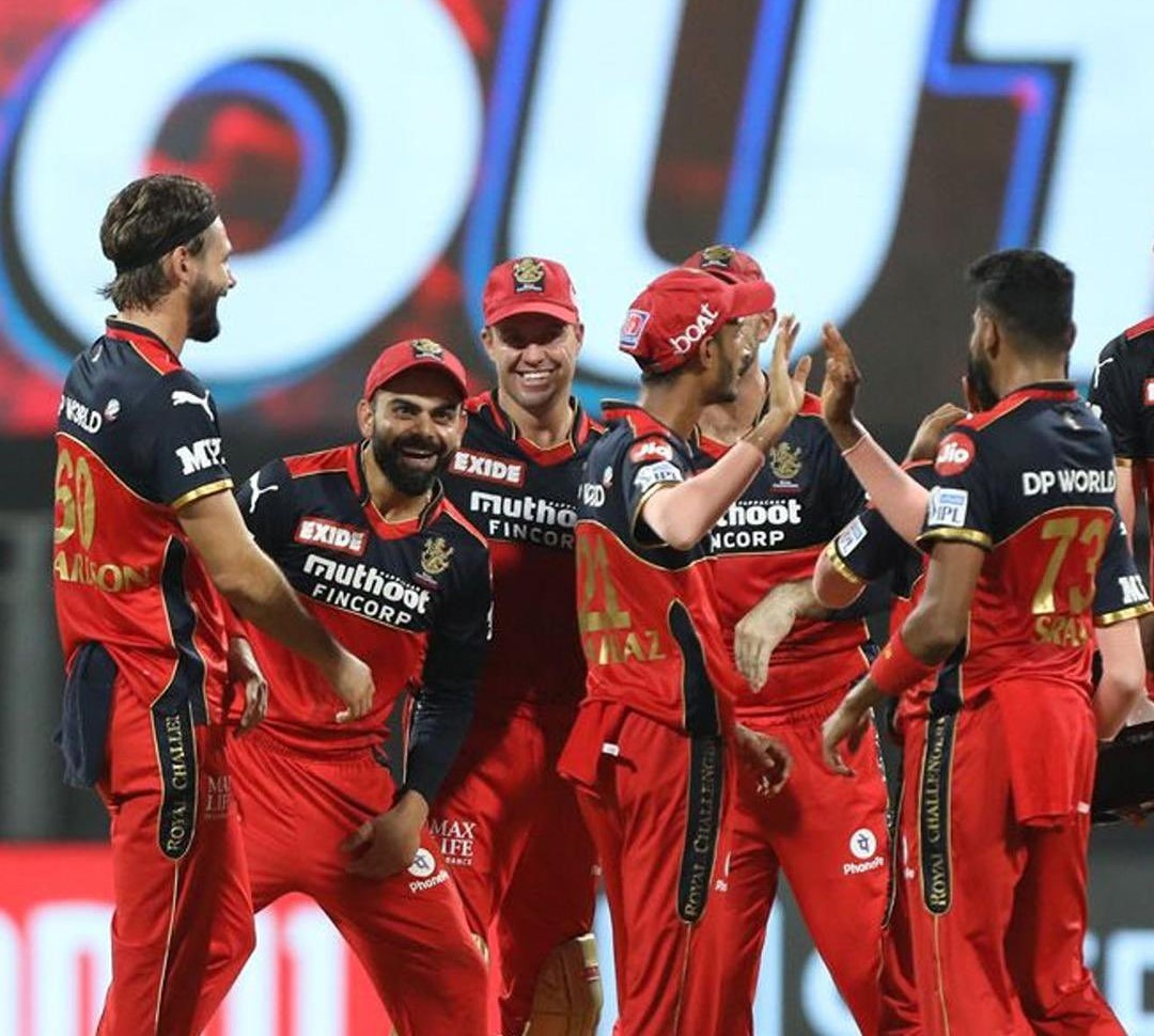 RCB currently sits at third place in the points table of IPL 2021 | RCB Twitter