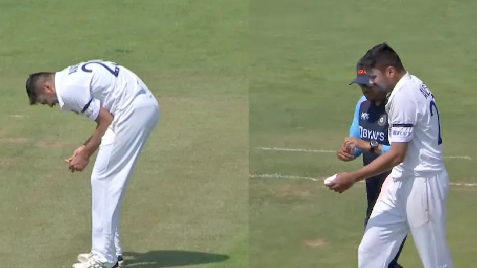 Avesh Khan taken for scans after injury to left thumb during County Select XI v Indians match