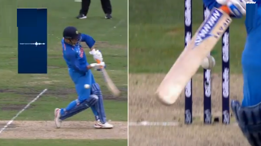 AUS v IND 2018-19: WATCH- MS Dhoni survives a clear nick as Australia don't appeal