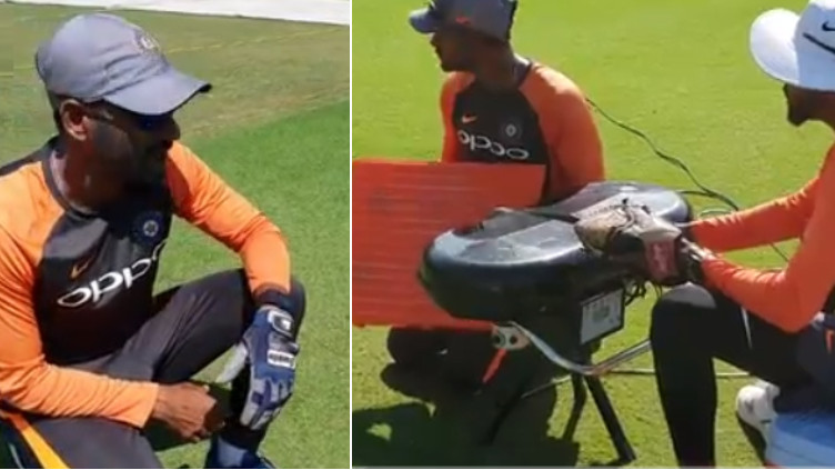 WATCH: Indian team get a new 'teammate' to improve their slip catching