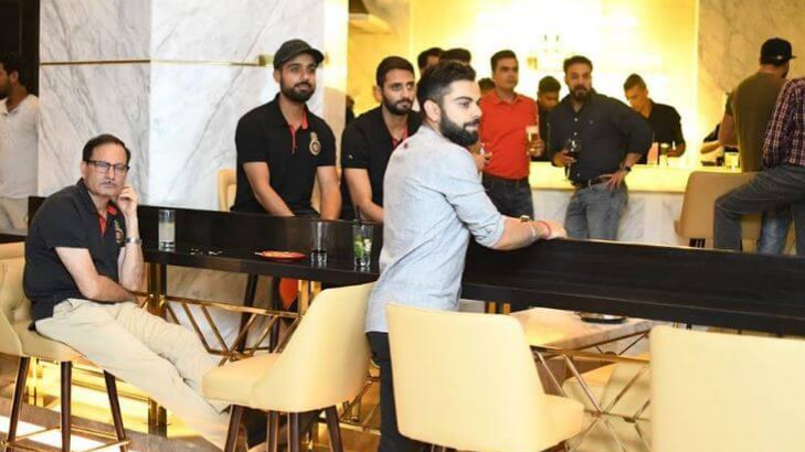 IPL 2018: Virat Kohli takes RCB teammates to his restaurant Nueva