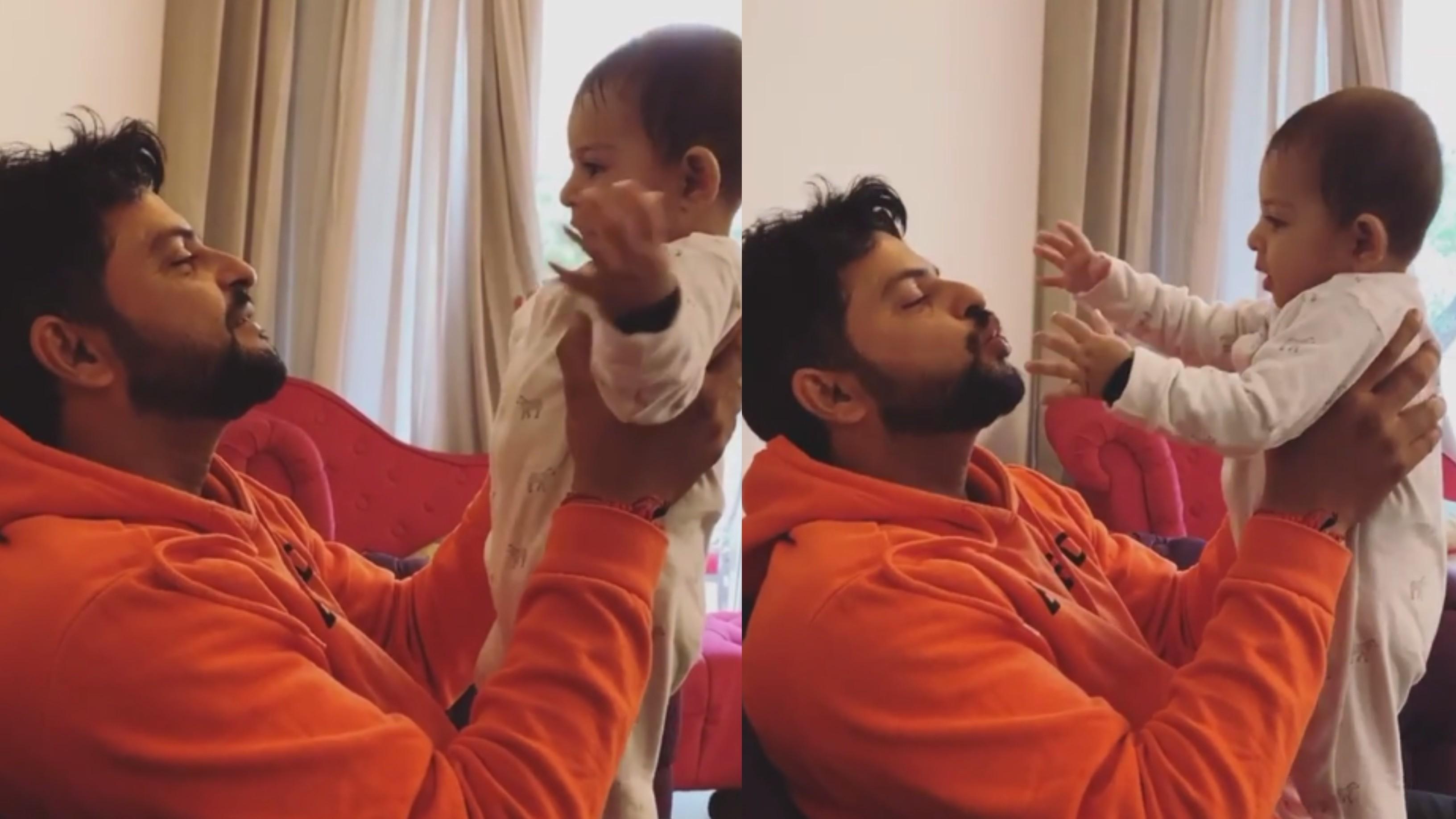 WATCH - Suresh Raina shares adorable video with son Rio; calls him his
