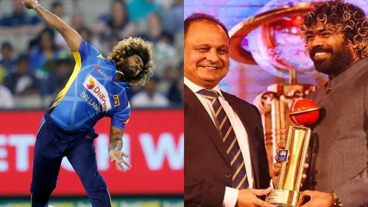 Lasith Malinga felicitated by Sri Lanka board in SLC awards