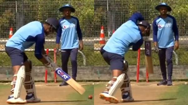 NZ v IND 2020: WATCH - Mayank Agarwal undergoes unique batting drills ahead of first Test