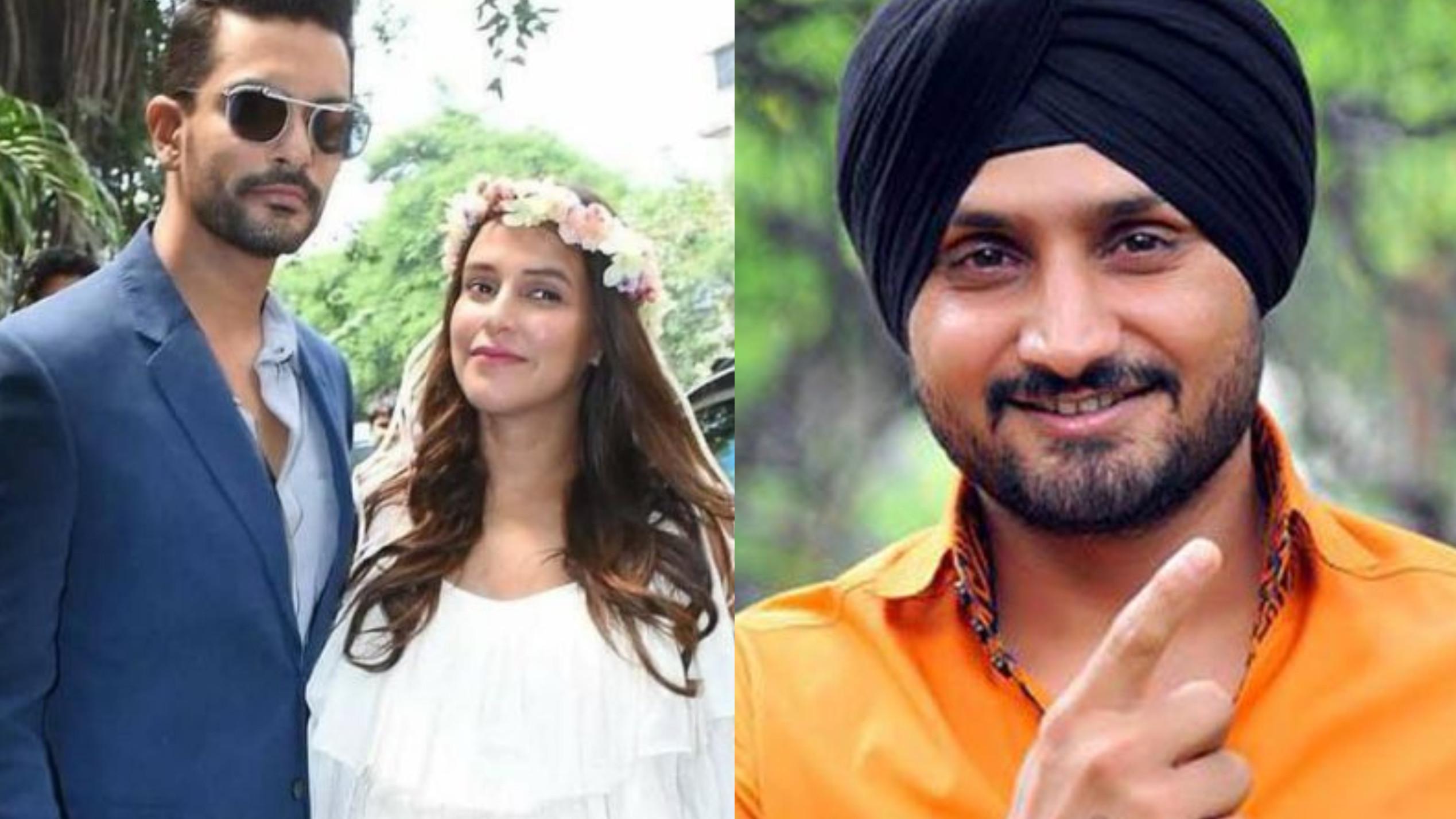 हरभजन सिंह ने नेहा धूपिया और अंगद बेदी का 'बेबी क्लब' में किया स्वागत