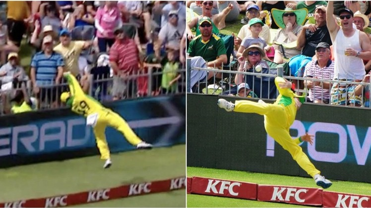 SA v AUS 2020: WATCH - Steve Smith's superman fielding effort converts certain six into a single