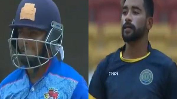 WATCH: Prithvi Shaw and Mohammed Siraj engaged in an on-field banter