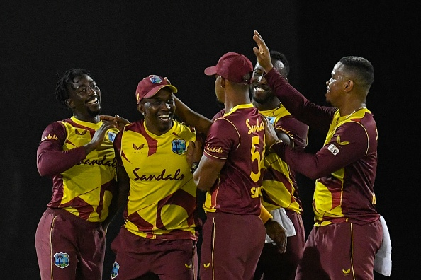 Bravo celebrates with West Indies | Getty