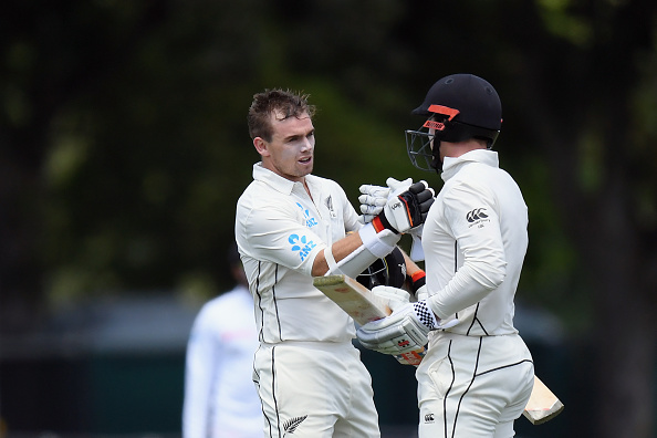 Henry Nicholls and Tom Latham celebrates 214-run partnership at Christchurch | Getty Images