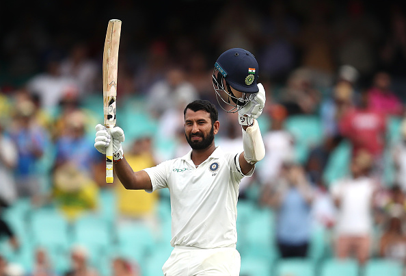 Pujara scored a glorious 193 in the fourth and final Test against Australia at the SCG | Getty