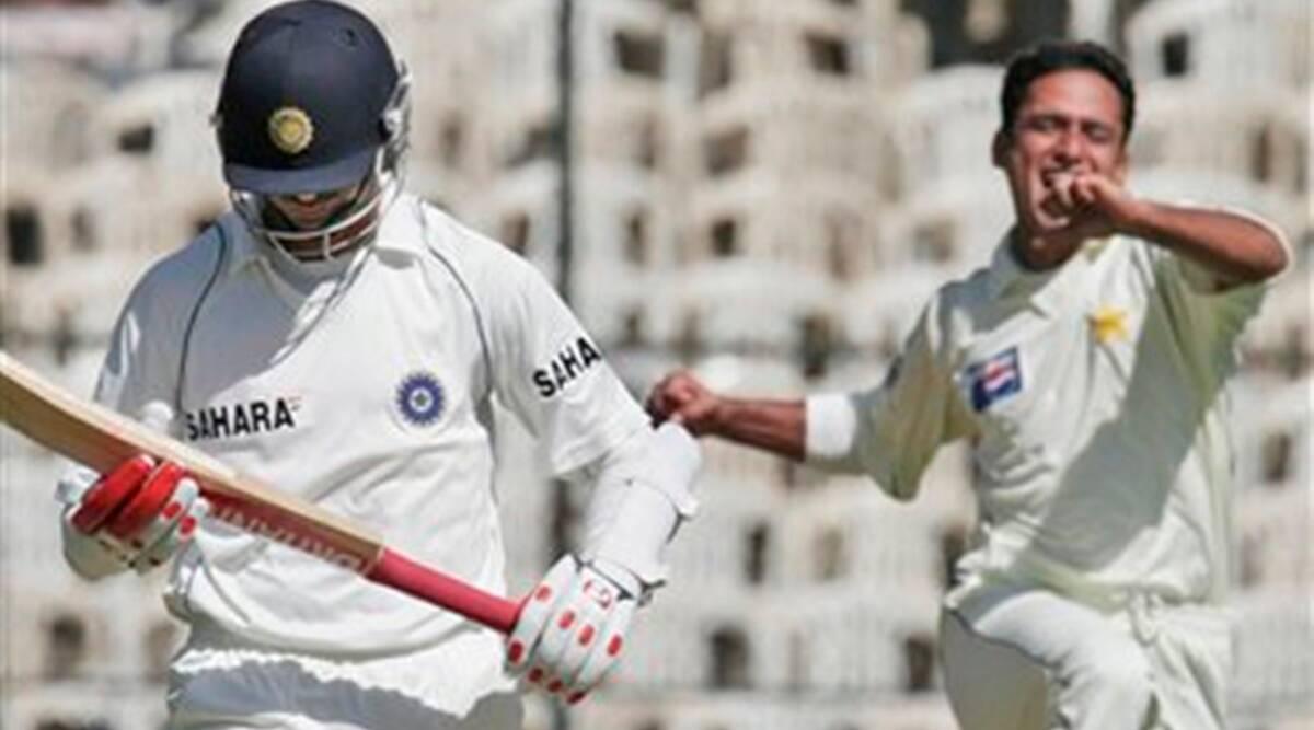 Yasir Arafat's dismissed Rahul Dravid to take his maiden Test wicket | AFP