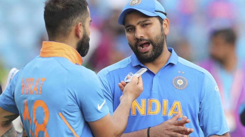 Rohit Sharma comes up with a hilarious reply when asked about Virat Kohli