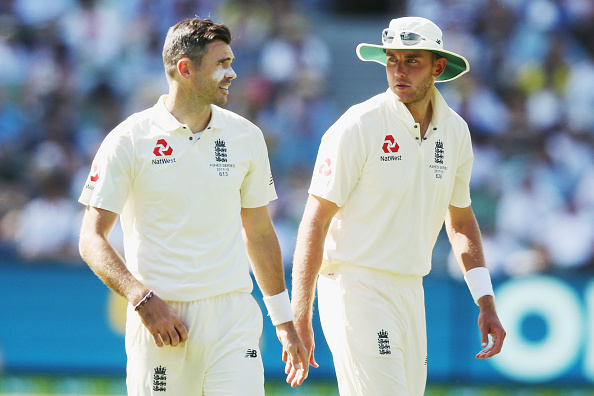 James Anderson and Stuart Broad | Source Getty