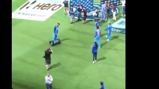 NZ v IND 2019: WATCH – Virat Kohli celebrates 1st ODI win with a ride on Segway
