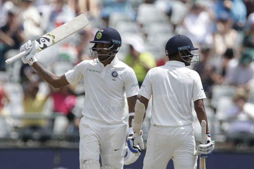 Hardik Pandya with Bhuvneshwar Kumar | AFP