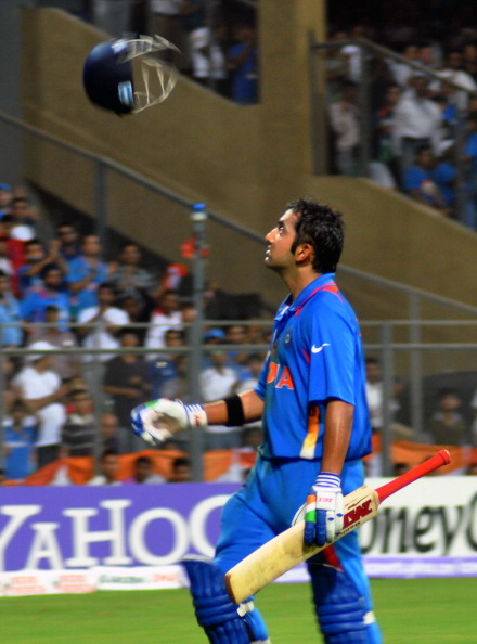 Gautam Gambhir goes back to the pavilion after falling for 97 in finals of 2011 World Cup | Getty