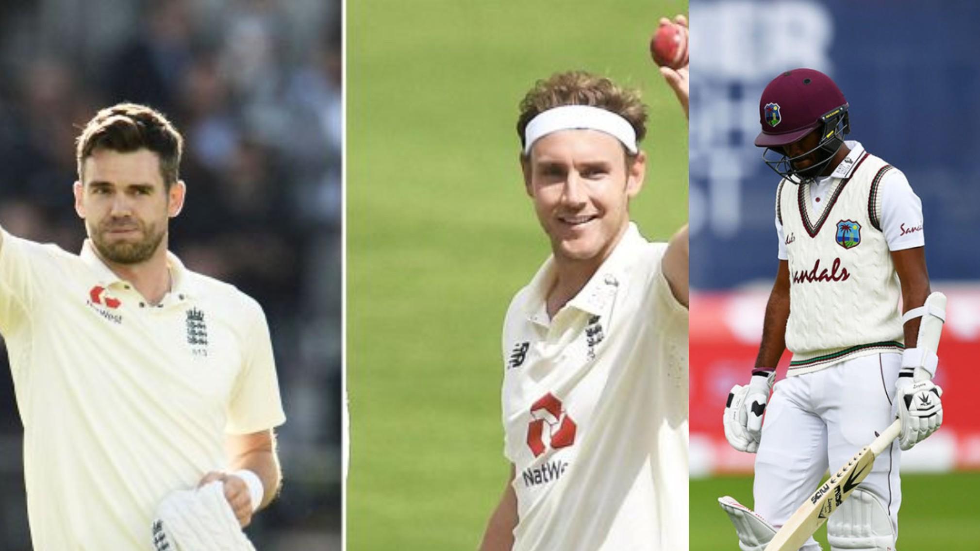 Stuart Broad reveals James Anderson had predicted Kraigg Brathwaite will be his 500th Test victim