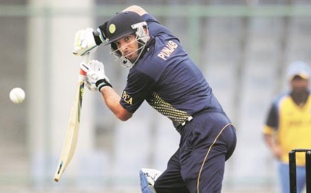 Yuvraj Singh playing for Punjab in Indian domestic cricket