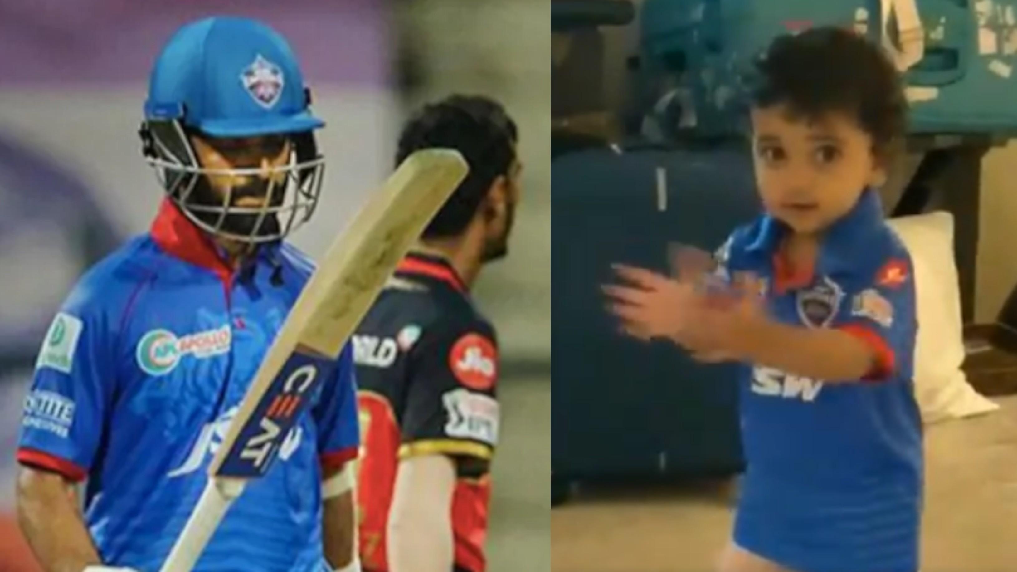 IPL 2020: WATCH - Ajinkya Rahane's super excited daughter Aarya cheers for him vs RCB